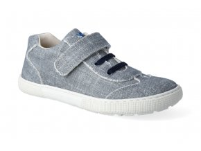 barefoot tenisky koel4kids bernardo canvas grey 3