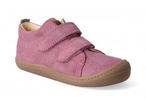 barefoot tenisky koel4kids korkid velour pink 3