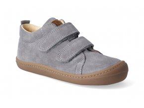 barefoot tenisky koel4kids korkid velour grey 2