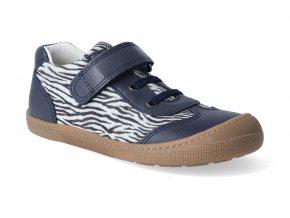 barefoot tenisky koel4kids bernardinho blue zebra 2