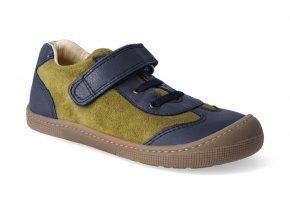 barefoot tenisky koel4kids bernardinho blue mustard 2
