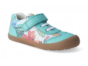 barefoot tenisky koel4kids bernardinho aqua flower 2