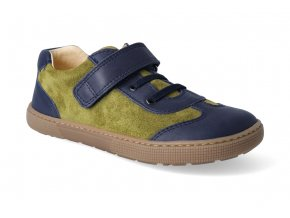barefoot tenisky koel4kids bernardo blue mustard 3