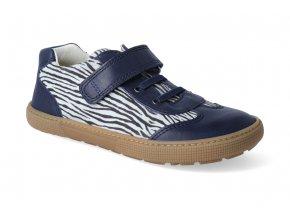 barefoot tenisky koel4kids bernardo blue zebra 3
