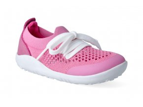 barefoot capacky bobux play knit pink raspberry step up 1