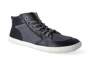 barefoot kotnikova obuv koel4kids bernardo fleece black grey 2