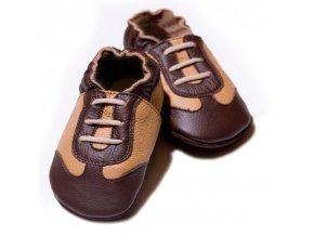 liliputi soft baby shoes brown sport 86