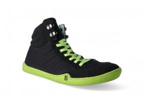 barefoot kotnikova obuv blifestyle urbanstyle micro textile black 2
