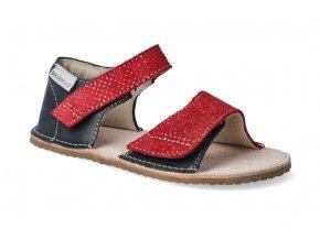 barefoot sandalky okbarefoot mirrisa cerno cervena 2