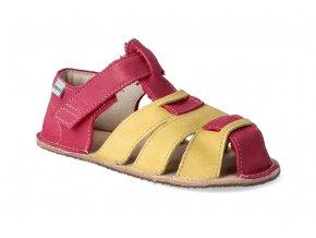 barefoot sandalky okbarefoot palm cerveno zlate 2