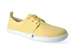 barefoot tenisky blifestyle greenstyle bio gots textile mustard 2