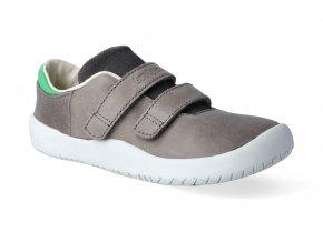 barefoot tenisky bundgaard benjamin velcro dark grey ws 2