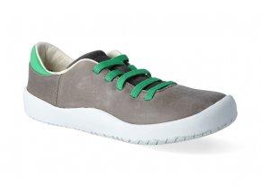 barefoot tenisky bundgaard benjamin lace dark grey ws 2