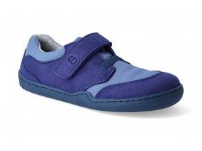barefoot tenisky blifestyle crocodile wide textil meeresblau 2