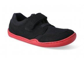 barefoot tenisky blifestyle crocodile textil black 2