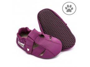 liliputi soft paws baby sandal fuchsia 5043