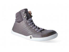 barefoot kotnikova obuv blifestyle urbanstyle nappa grau 3