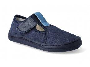barefoot prezuvky froddo bf dark blue platene 2