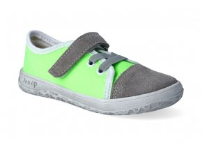 barefoot tenisky jonap b15 airy sedo zelena 3