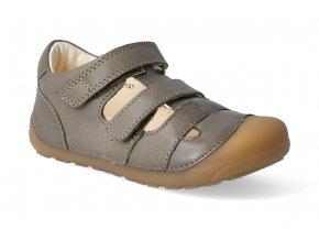 barefoot sandaly bundgaard petit sandal army 1