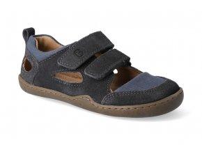 barefoot sandaly blifestyle kammmolch bio strap schiefergrau 3