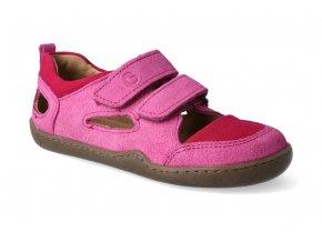 barefoot sandaly blifestyle kammmolch bio strap fuchsia 3