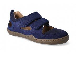 barefoot sandaly blifestyle kammmolch bio strap marine wide 2