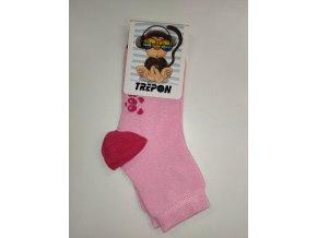 Dětské bambusové ponožky Trepon - Hugo růžové