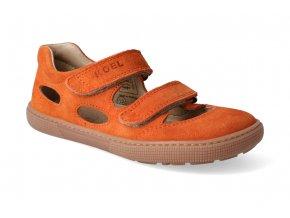 barefoot sandaly koel bernardo orange 2