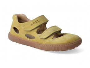 barefoot sandaly koel bernardo mustard 3