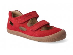 barefoot sandaly koel bernardinho red 2