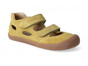 barefoot sandaly koel bernardinho mustard 3