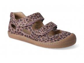 barefoot sandaly koel bernardinho pink leopard 3