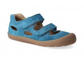 barefoot sandalky koel4kids bernardinho turquoise 2