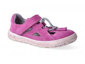 barefoot sandalky jonap b9s ruzova slim 3