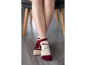 barefoot ponozky kratke vino 17449 size large v 1