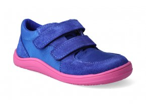 barefoot tenisky baby bare febo sneakers navy pink 2