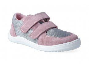 barefoot tenisky baby bare febo sneakers grey pink 2 2