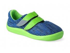 barefoot tenisky beda blue lime vegan 2 2