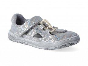 Barefoot sandálky Jonap - B9 kytka šedá