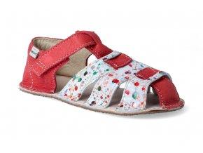 barefoot sandalky okbarefoot palm cerveno barevne 2