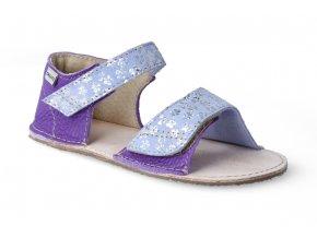 barefoot sandalky okbarefoot mirrisa fialove kyticky 2