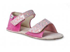 barefoot sandalky okbarefoot mirrisa ruzove kyticky 2