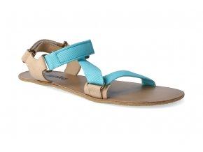 barefoot sandaly be lenka flexi turquoise beige 2