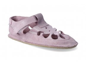 barefoot sandalky baby bare io sparkle pink letni 2