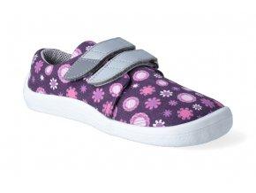 barefoot tenisky beda violet flower textilni 2