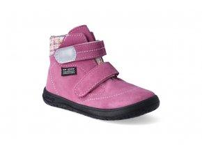 barefoot kotnikova obuv s membranou jonap b3s ruzova 2