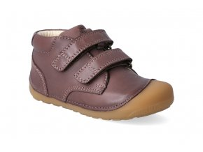 barefoot kotnikova obuv bundgaard petit velcro brown 3
