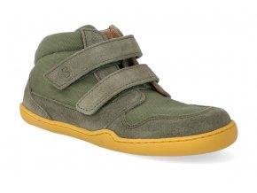 barefoot kotnikova obuv blifestyle loris velcro moosgrun 2 2