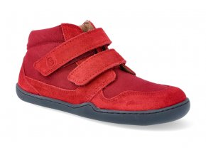 barefoot kotnikova obuv blifestyle loris velcro feuerrot 2